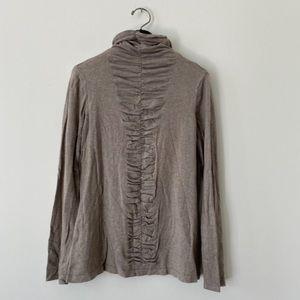 3/20$ JANA Long sleeve Soft Grey turtle neck shirt